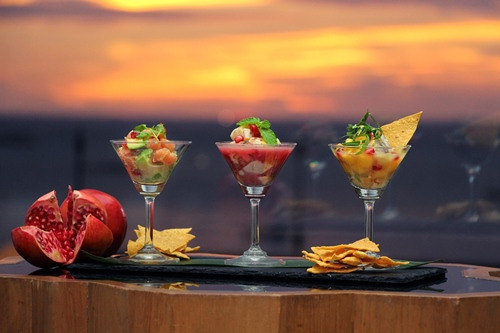 Hilton Pattaya_Trio of Ceviches with Pomegranate