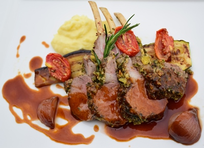 Lamb Rack with Herb Crusted