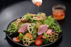 lotus-root-salad-with-smoked-duck-and-sesame-dressing_drift